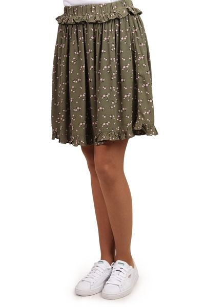Pieces Nederdel PC Megan Skirt Deep Lichen GreenFlowers