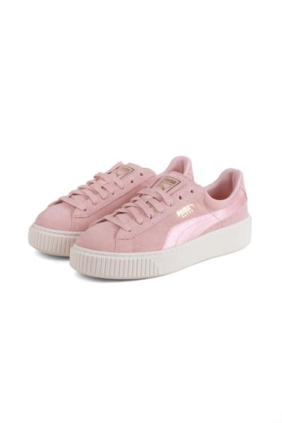 Puma Sneakers Suede Platform Mono Satin Silver PinkWhisper WhiteGold